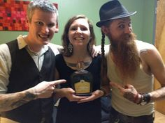 The Devil Makes Three loving some Troy and Sons Moonshine when they came through Asheville!    #TheDevilMakesThree #Moonshine