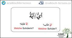 """""""Welche/Welcher?""""    arabisch-deutsch"""