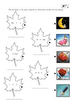 herfst kern 1 en 2.pdf School Hacks, Pre School, Homeschool, Crafts For Kids, Classroom, Letters, Education, Reading, Spelling