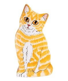 Look at this #zulilyfind! Julius Orange Tabby Cat Vase #zulilyfinds