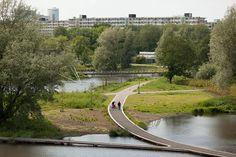 Nieuwe Bijlmerpark, A'dam Z-O draagt bij aan leefbaar stadsdeel. Met 4 functies in park kan ieder zich thuisvoelen.
