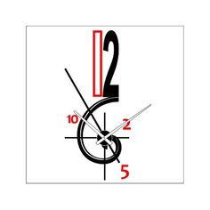 Reloj de pared diseño con espiral de fibonacci.