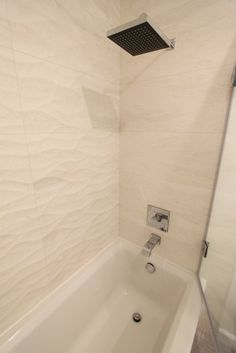 BuildDirect Ceramic Wall Tile Waves D Collection White Ona - Bathroom remodel fremont ca