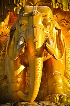 Gold Elephant Statue, Mount Emeishan, Sichuan, China