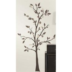 Room Mates 47 Piece Deco Mod Tree Peel And Stick Giant Wall Decal Set · Kids  Wall StickersWall ...