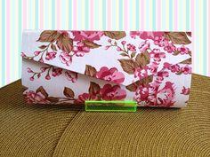 handbag/ bolsa de mão/ clutch floral (cartonagem)