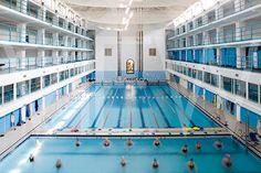 DONE Piscina Comunale Carmen Longo, Bologna, Italy Bologna Italy, Swimming Pools, Basketball Court, Interiors, Swiming Pool, Pools, Decoration Home, Decor, Deco