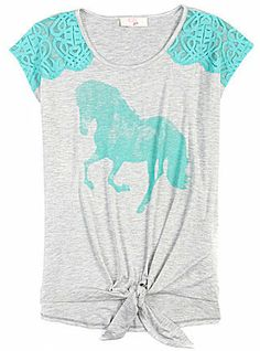 Horse tee, so cute for little kids.