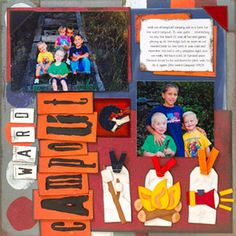 Incorporate Nature Paper-Piecing Patterns into Camping Scrapbook Pages  Design by Jodi Sanford