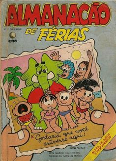 """O número 4...  De volta ao verão, a """"foto"""" da capa traz a Turma na praia. Dezembro de 1988."""