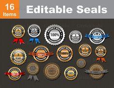 Seal Clipart Set - Seal of Approval Clip Art - Award Guarantee Seals - Editable - Graphic Design Elements - Digital Download