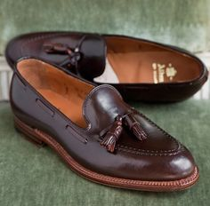 Alden tassel loafer in cigar shell cordovan for Harrison Limited