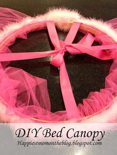 Happiest Mom on the Blog: DIY Bed Canopy with Rhinestones