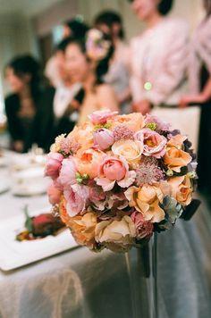 新郎新婦様からのメール 琥珀 椿山荘様へ : 一会 ウエディングの花