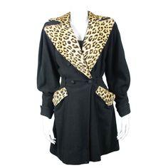 1940s coat with leopard print trim. Nice! $1050