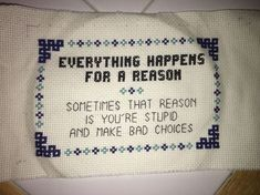 19 Funny Cross-Stitches You'll Want to Hang in Your House | 22 Words