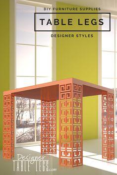 Dynasty Key Orange Table Legs - DIY Furniture Supplies for Table Desks - Interior Design Ikea Hacks