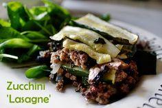 Fit to Blog: Zucchini 'Lasagne' - Paleo, AIP, SCD, NSD, low-FODMAPS option. Autoimmune Paleo Diet.