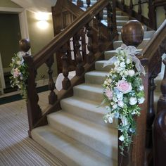 stair decorations for weddings - Google Search