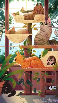 Fantasy Character, Cat Drawing, Animes Wallpapers, Cat Art, Digital Illustration, Book Illustration, Cartoon Art, Illustrators, Artwork