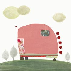 Hey, I found this really awesome Etsy listing at https://www.etsy.com/listing/44975692/pink-caravan-art-illustration-wall-decor