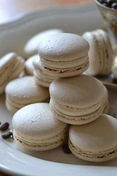 Espresso White Chocolate Macarons