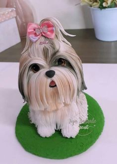 Polymer Clay Figures, Polymer Clay Sculptures, Polymer Clay Miniatures, Polymer Clay Projects, Sculpture Clay, Fondant Dog, Fondant Animals, Fairy Garden Ornaments, Dog Cupcakes
