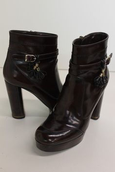 Stella McCartney Womens Brown Leather Ankle Boots Sz 39 | eBay