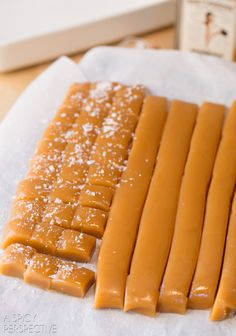 THE BEST Salted Caramel Candy Recipe with a hint of Bourbon!  #caramel #saltedcaramel #holiday #homemade