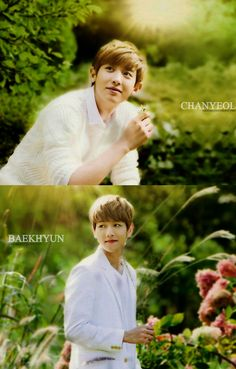 ChanYeol and Baekhyun for Nature Republic. this photoshoot makes all of em look really angelic. Baekyeol, Chanbaek, Nature Republic, Exo K, South Korean Boy Band, Chanyeol, Boy Bands, Cute Puppies, Photoshoot