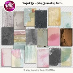 Project Life - Artsy Journaling Cards