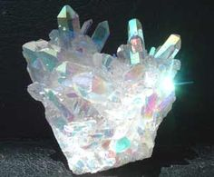 Angel Aura Quartz is also known as Opal Aura Quartz. It is a product of twentieth century technology, just as aqua aura, ruby aura and sunshine aura are.