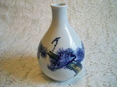 Vintage Mid Century Modern Oriental Porcelain Bud Vase by BlackRain4, $24.99