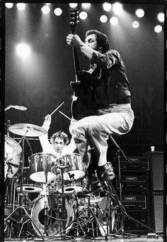 Pete Townshend & Keith Moon, en la última gira de los miembros originales de The Who (1978).