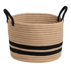 Shop for Colonial Mills San Marino Indoor Outdoor Polypropylene Soft Braided Basket. Get free delivery On EVERYTHING* Overstock - Your Online Home Decor Outlet Store! Get in rewards with Club O! Plastic Storage Totes, Fabric Storage Bins, Fabric Bins, Tote Storage, Storage Baskets, Fabric Basket, Sisal, Kids Toy Store, Muted Colors