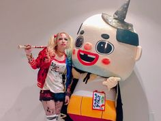 Kobe & Makuhari #VAMPS #HYDE with Chicchai Ossan #VampsHalloweenParty2016 #HalloweenParty2016 #HalloweenParty  Chicchai-Ossan / Amagasaki, Hyogo Prefecture unofficial character(Yuru-chara). Yuru-chara are heartwarming mascot-like characters that represent different organizations, events, or groups and mainly devised for PR purposes.