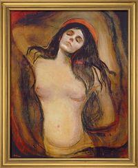 """Edvard Munch: Bild """"Madonna"""" (1894), gerahmt"""