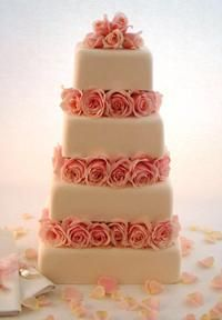 'Rose Blush' Pink Wedding Cake by Little Venice Cake Company