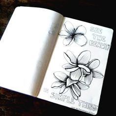 This sketch of the day in my moleskine art journal of a yellow Frangipani flower with the positive quote: See the beauty in simple things was done in Uluwatu, Canggu last week after one morning sur...
