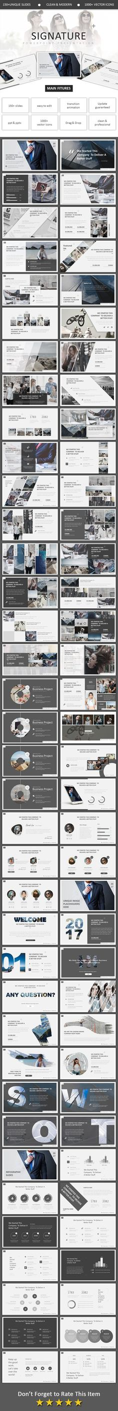 Signature Powerpoint - Business PowerPoint Templates