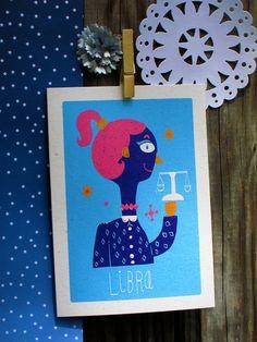 Libra Greeting Card. $4.00, via Etsy.