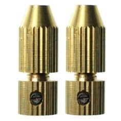 2Pcs/Lot Small Drill Chuck Drill Twist Drill Chuck Copper Clip Miniature Self-Tightening Chuck Hand Drill Accessories P35