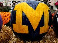 University of Michigan Pumpkin              http://www.etsy.com/shop/Michiale