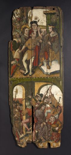 Very Rare Pre-Reformation Painted Panels (Probably English)