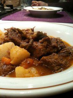 Stewed piedmontese ox with potatoes