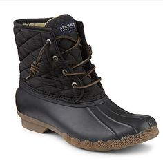Sperry duck boot Black sperry duck boot - never worn. Brand new in box Sperry Top-Sider Shoes Winter & Rain Boots