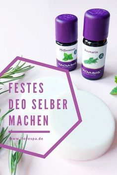 Festes Deo selber machen – DIY Naturkosmetik Deo ohne Aluminiumsalze mit Rosmari… Make a firm deodorant yourself – DIY natural cosmetics deodorant without aluminum salts with rosemary mint scent 🙂 Diy Lush, Make Your Own Deodorant, Mason Jar Diy, Natural Cosmetics, Diy Makeup, Makeup Ideas, Natural Skin Care, Natural Beauty, Natural Makeup