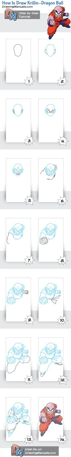 How to Draw Dragon Ball – Krillin