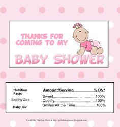 Etiquetas de chocolate imprimibles para Baby Showers.