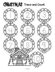 ***FREE*** Three Christmas-themed tracing and counting pages for early learners. Count the sets, recognize and trace the numbers, add extra details and color if desired.